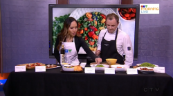 Click to watch Green Chickpea recipes with Brendan Nichol of Sunterra Market on CTV Television